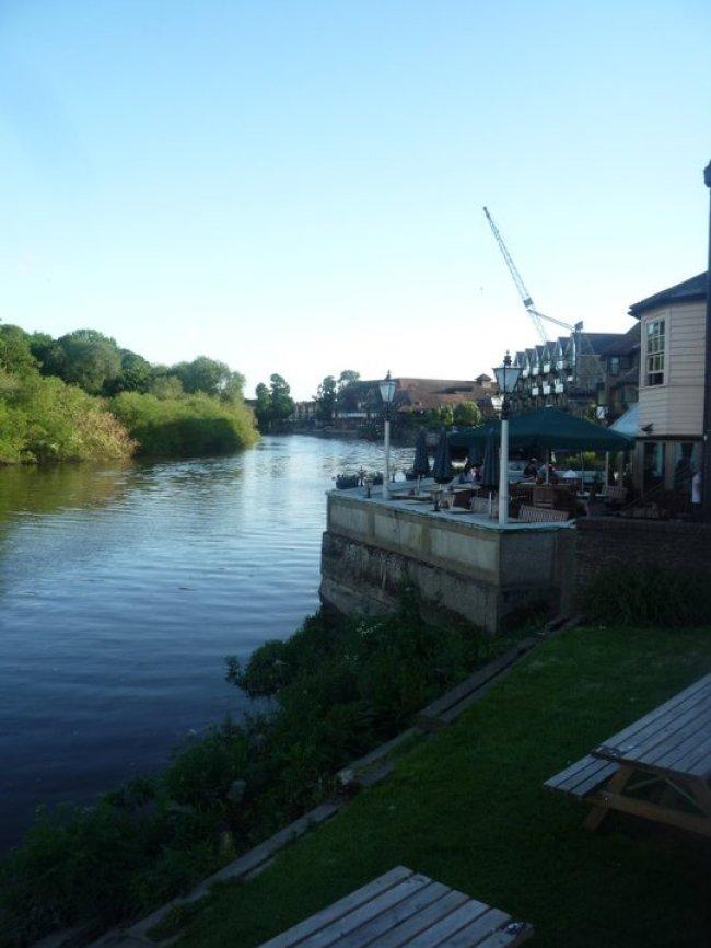 Isleworth riverside in Greater London