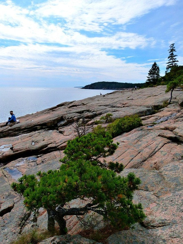 Ocean Drive trail in Acadia National Park, Maine