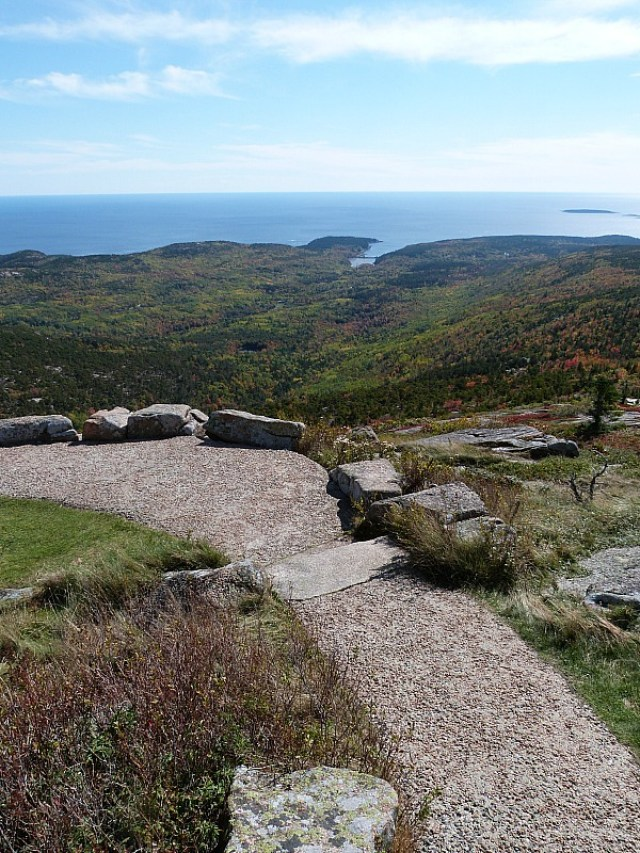 Hiking Cadillac Mountain in Acadia National Park, Maine