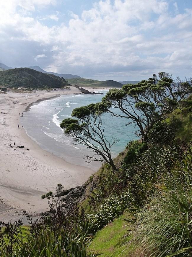 View over Ocean Beach in Whangarei Heads