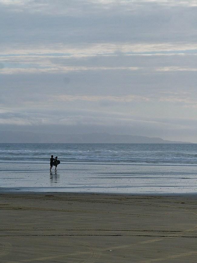 Ninety Mile Beach in Northland, New Zealand