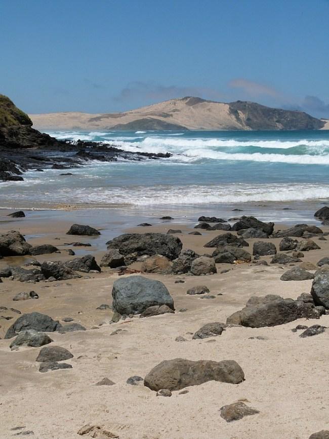 Wild beach near Cape Reinga, New Zealand