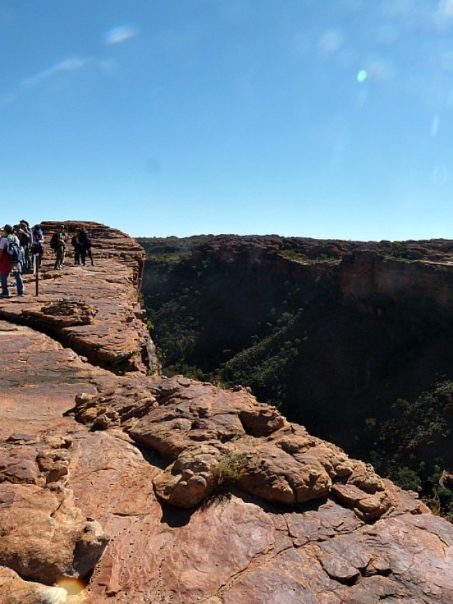 Hiking Kings Canyon in the Australian Outback