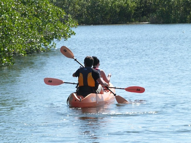 Kayaking at John Pennecamp State Park in Key Largo, Florida