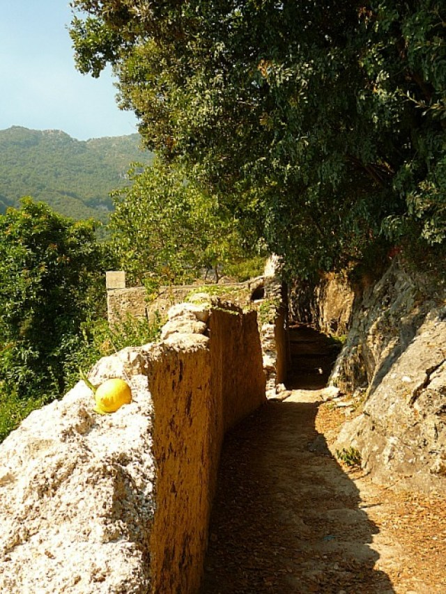 Hiking trail above Amalfi in Italy