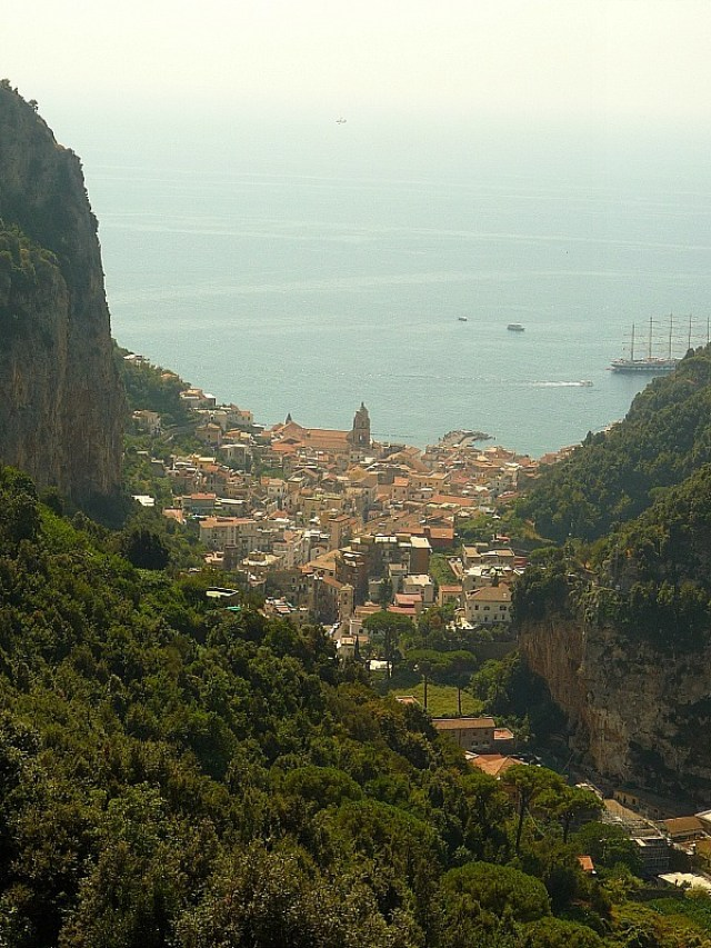 Amazing views on the Amalfi Coast in Italy