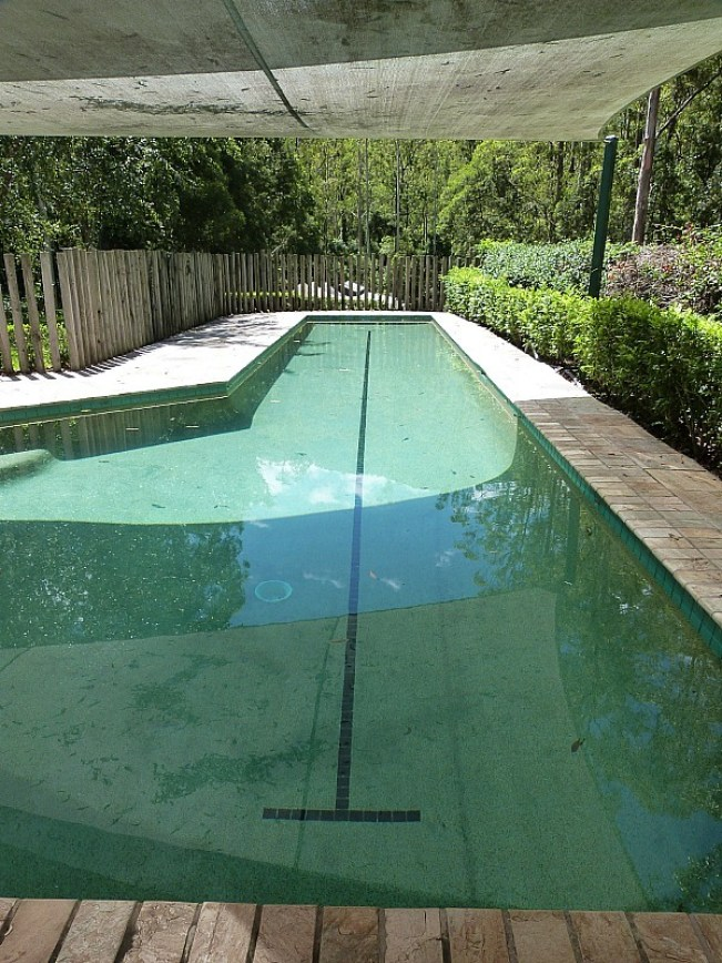 Pool at Treetops house in Bellingen, Australia