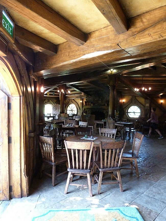 Inside the Green Dragon Inn at Hobbiton New Zealand