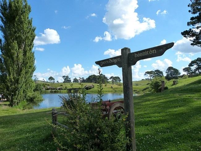 Beautiful countryside at Hobbiton, New Zealand