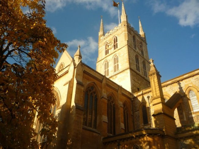 Southwark Cathedral near Borough Market - one of the best markets in London