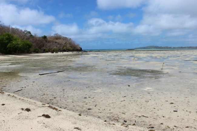 Discovering deserted beaches while hiking the Yasawa Islands of Fiji