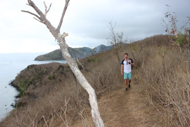 Hiking on Barefoot Island in the Yasawa Islands of Fiji