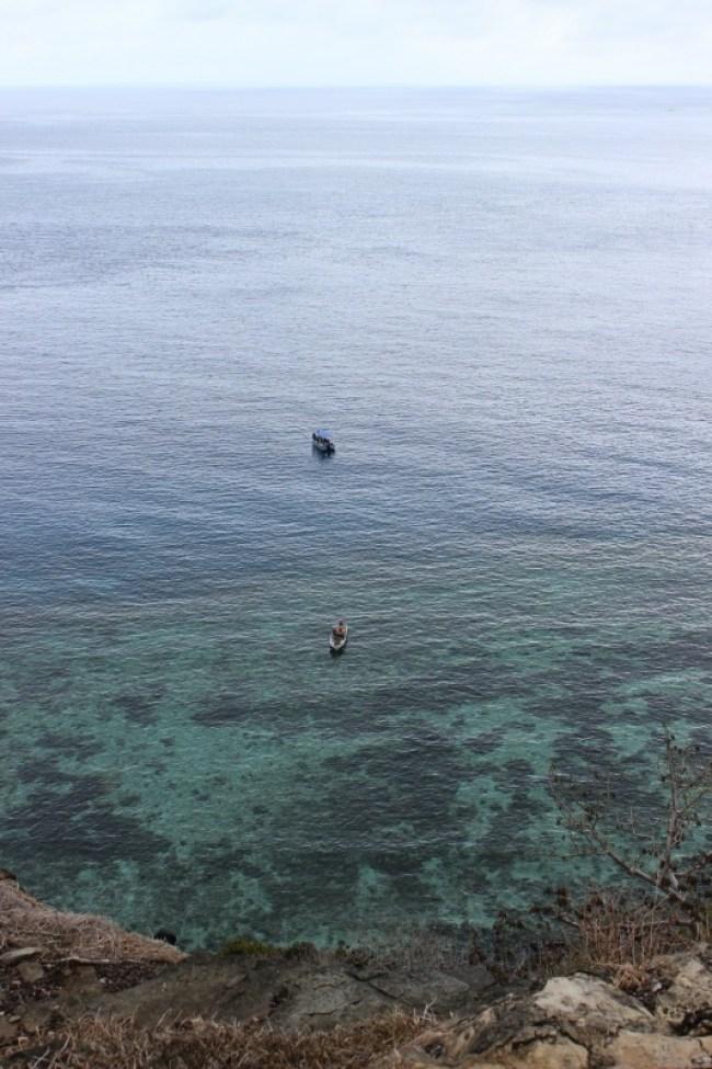Coastal views while hiking on Barefoot Island in the Yasawa Islands of Fiji