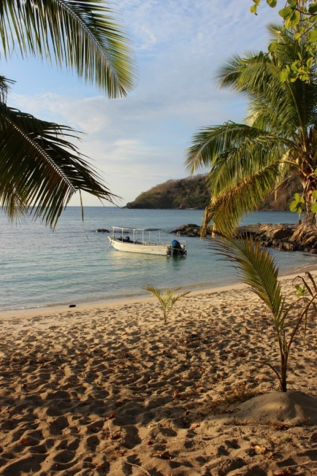 Enjoying gorgeous beaches on Barefoot Island in Fiji
