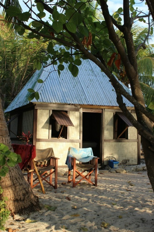 Our hut on Barefoot Island in Fiji