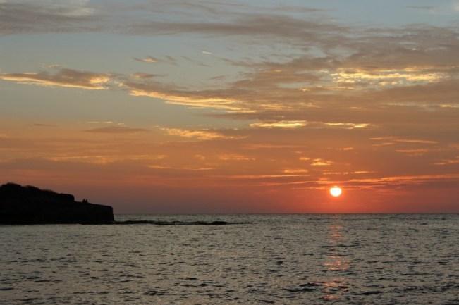 Sunset on Barefoot Island in Fiji