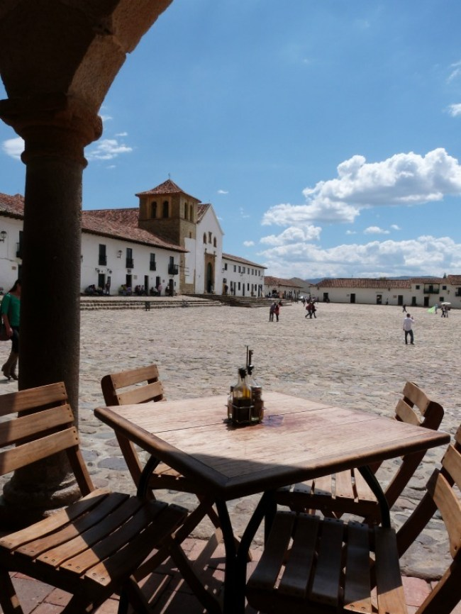 Relaxing in the main square of Villa de Leyva, Colombia - one of the 10 Best Offbeat Places in South America