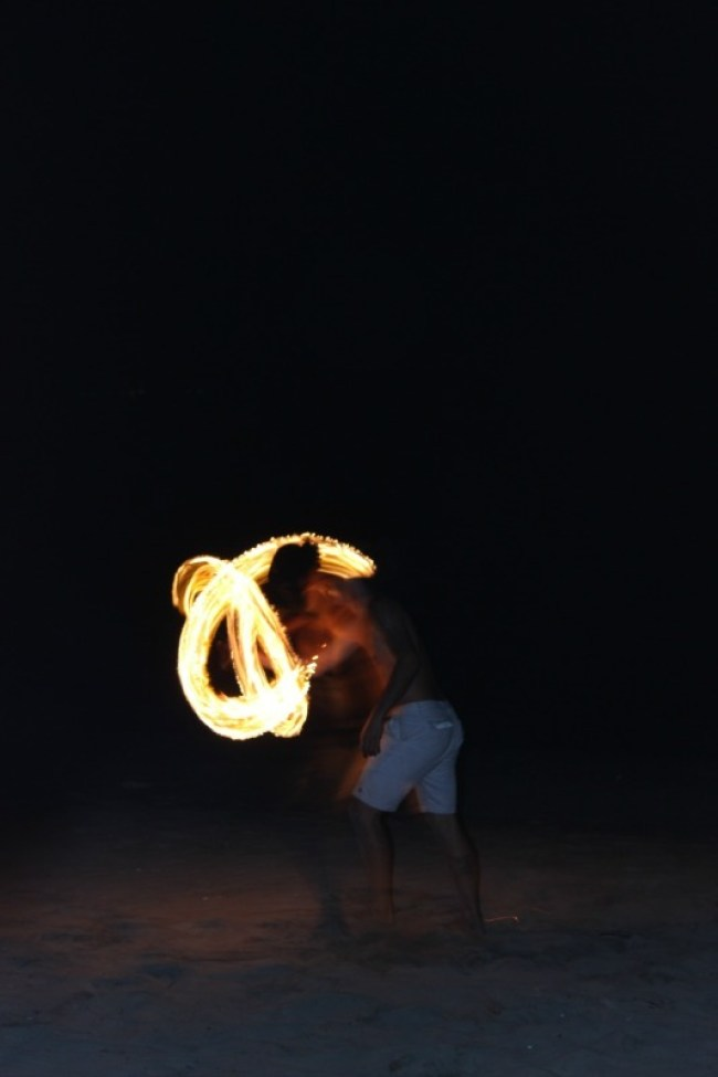 Fire dancers at Smugglers Cove in Fiji