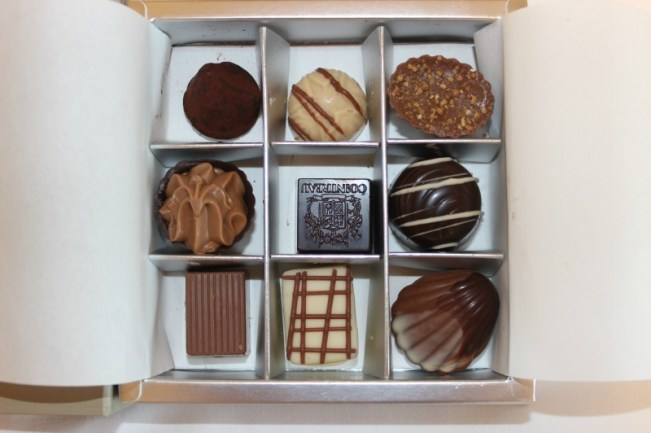 Chocolate selection at the Four Seasons Sydney during our staycation