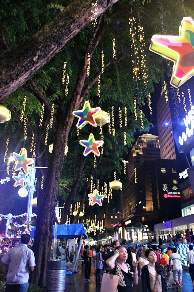 Christmas decorations in Singapore