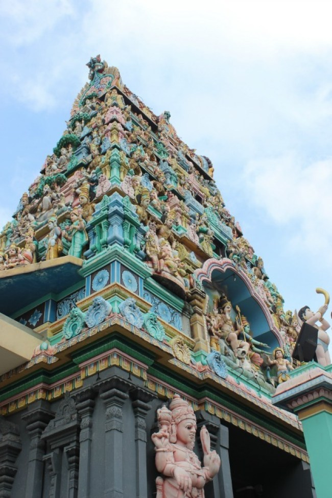 Walking around Little India during our 24 hours in Singapore