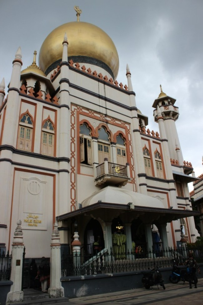 Checking out the Kampong Glam during our 24 hours in Singapore
