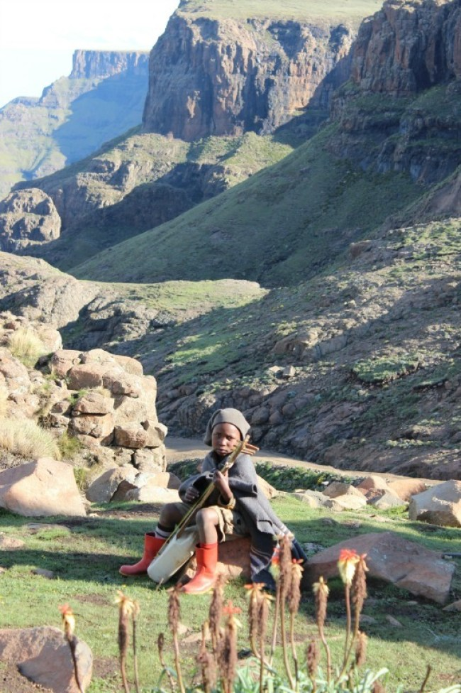 Local kid in Sani Top Lesotho