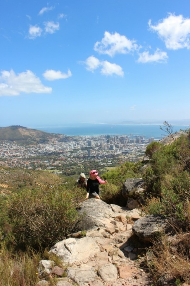 Hiking the Platteklip Gorge hike up Table Mountain in Cape Town
