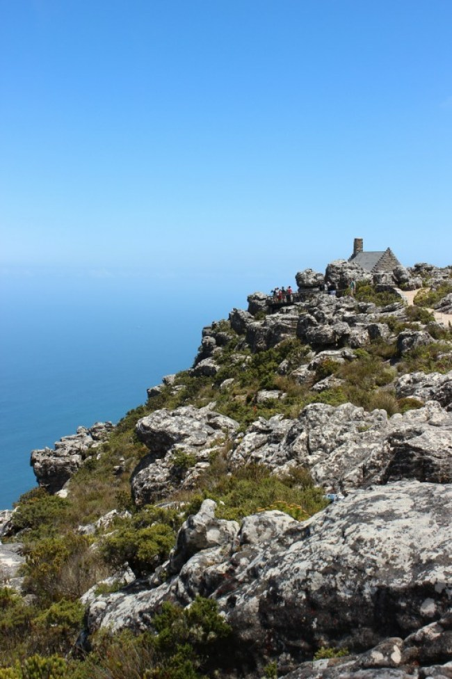 Views from the top of Table Mountain in Cape Town, South Africa