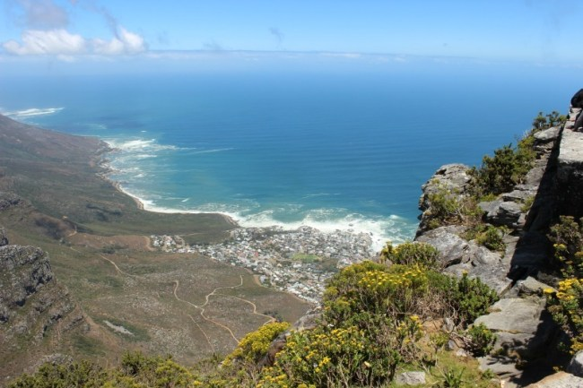 View from the top of Table Mountain in Cape Town
