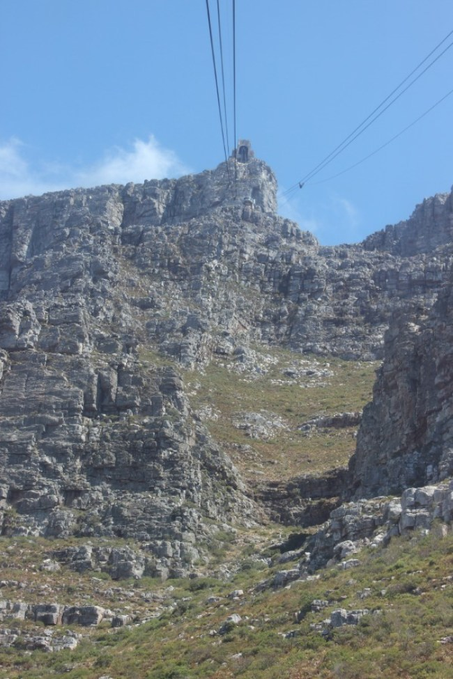 The start of the Platteklip Gorge trail in Cape Town, South Africa