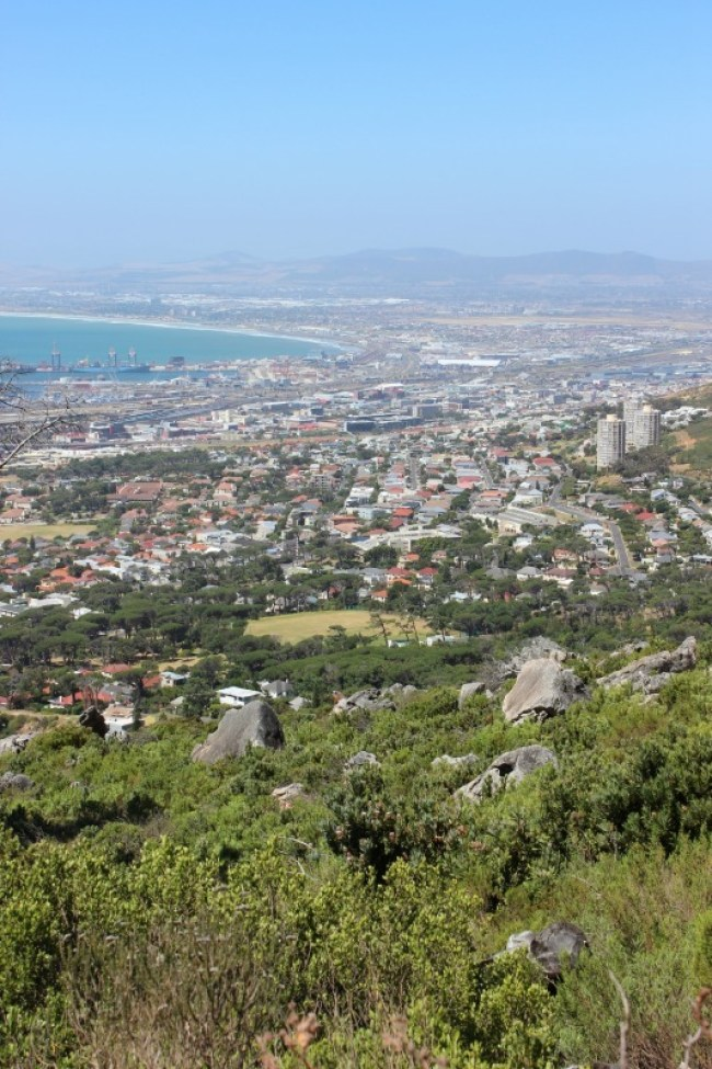 Views from the Platteklip Gorge route up Table Mountain in Cape Town