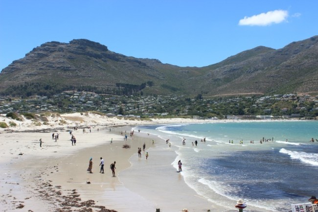 Beach time at beautiful Hout Bay - one of the best places to visit in Cape Town