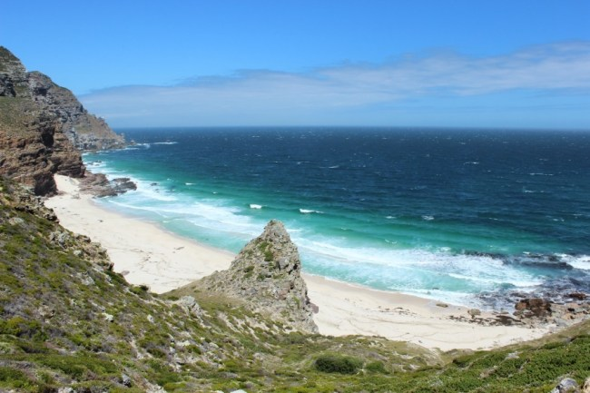 Diaz Beach at the Cape of Good Hope in South Africa