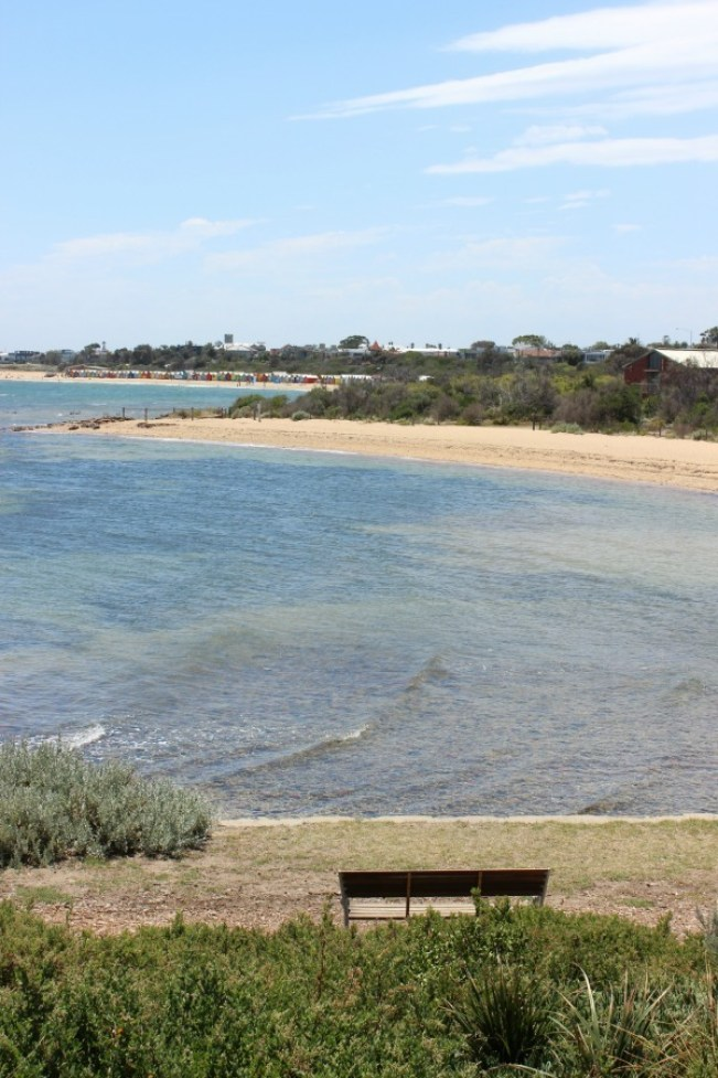 Hiking the coastal trail from Brighton Beach to St Kilda in Melbourne
