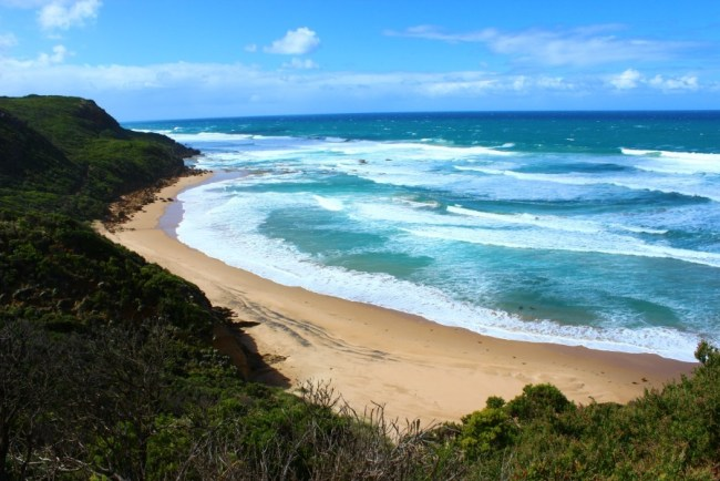 Beautiful beaches on the Great Ocean Road, Australia