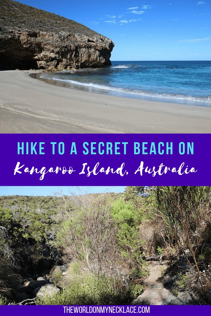 Hiking on Kangaroo Island to a Secret Beach
