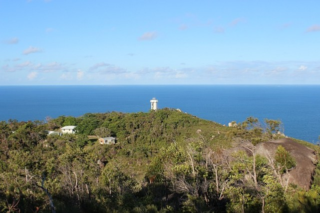 View over Fitzroy Island Lighthouse