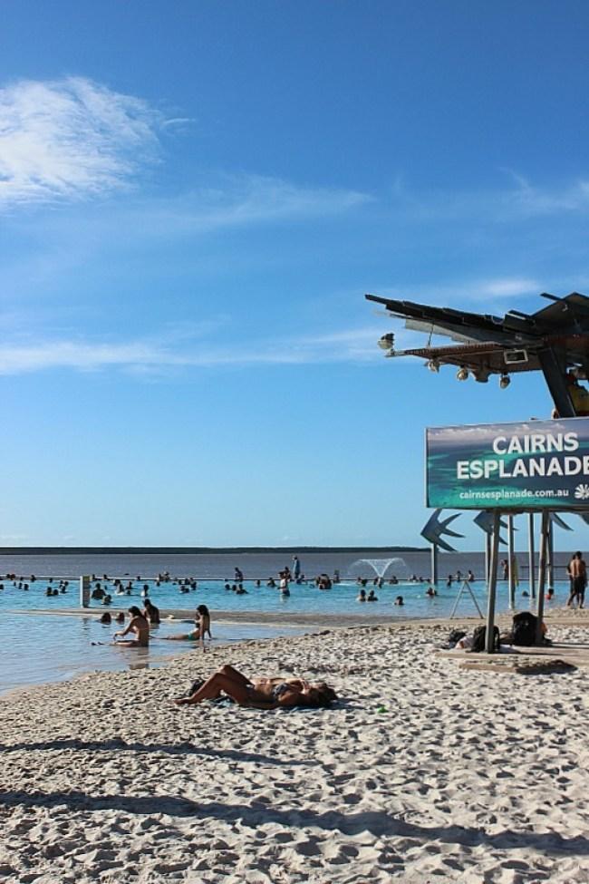 Beach at Cairns Esplanade Lagoon
