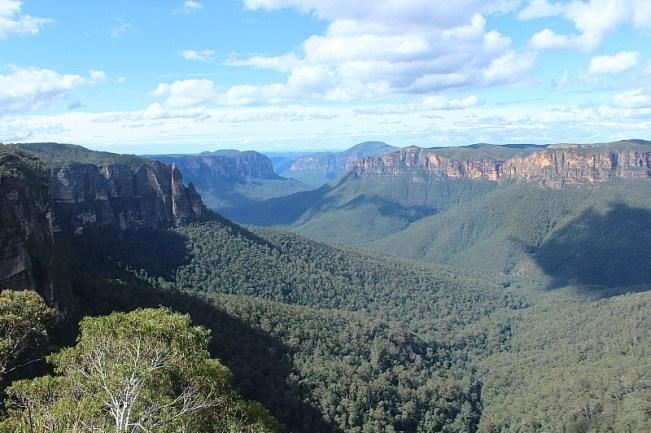 Blackheath Blue Mountains view in Australia