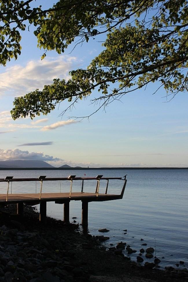Cairns Esplanade at sunset