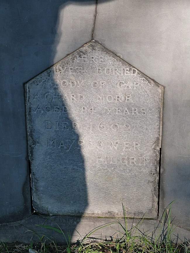 Mayflower pilgrim grave in Salem - one of the best small towns in Massachusetts