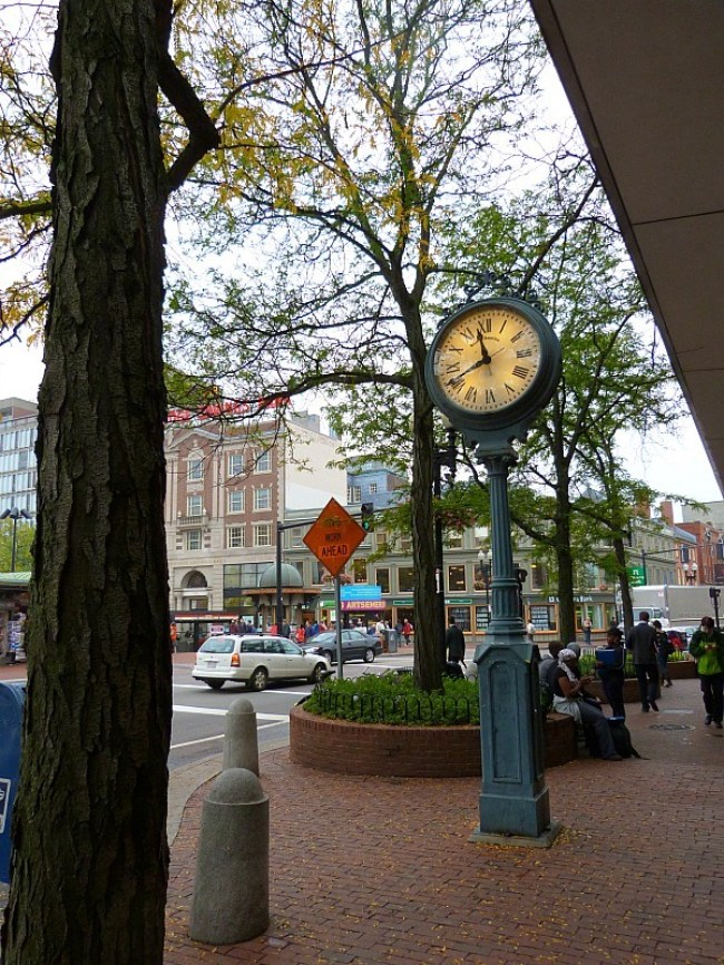 Downtown Cambridge Massachusetts - an easy half day trip from Boston in fall