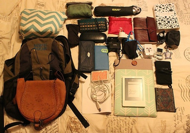 Small backpack contents - part of my Summer Packing List for three months in North America