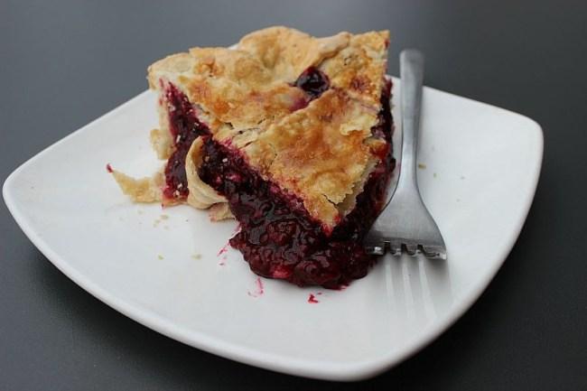 Marionberry and hazelnut pie in Seattle