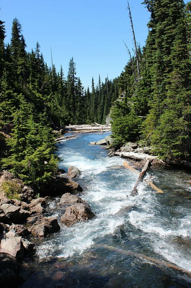 River on way to Garibaldi Lake - a day trip hike from Vancouver