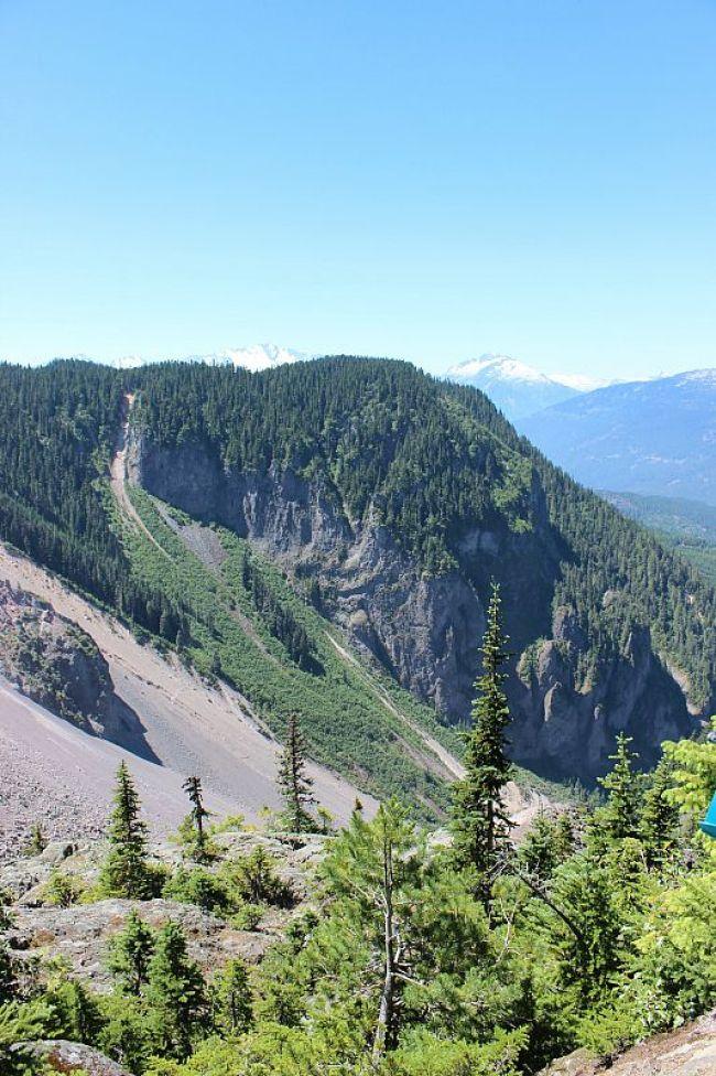 View from Garibaldi Lake hike near Vancouver