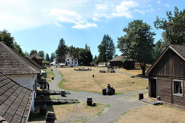 Visiting the Fort Langley National Historic Site in British Columbia, Canada during month two of digital nomad life