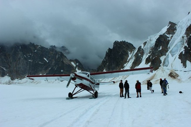 Landing on a Glacier near Talkeetna Alaska during month two of digital nomad life