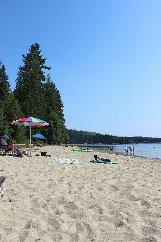 Beach time at Porpoise Bay, Sechelt on the Sunshine Coast of British Columbia during month two of digital nomad life